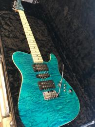 Tom Anderson Drop T Bora Bora Blue with Binding